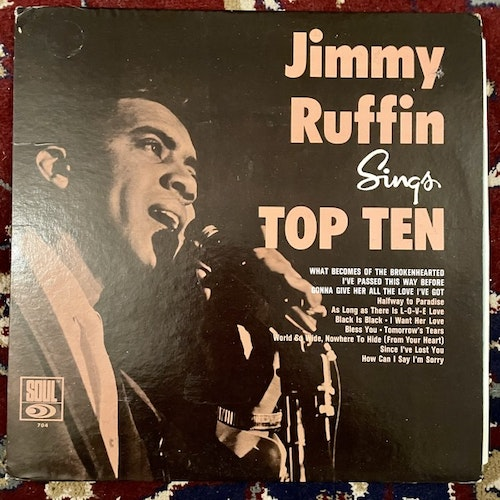 JIMMY RUFFIN Sings Top Ten (Soul - USA mono original) (VG/VG+) LP