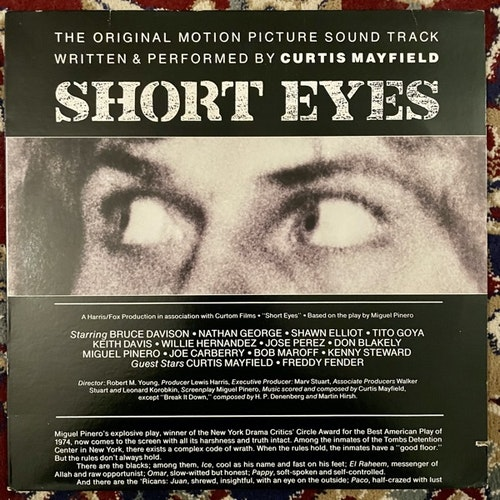 SOUNDTRACK Curtis Mayfield ‎– Short Eyes (Curtom - USA original) (VG+/VG) LP