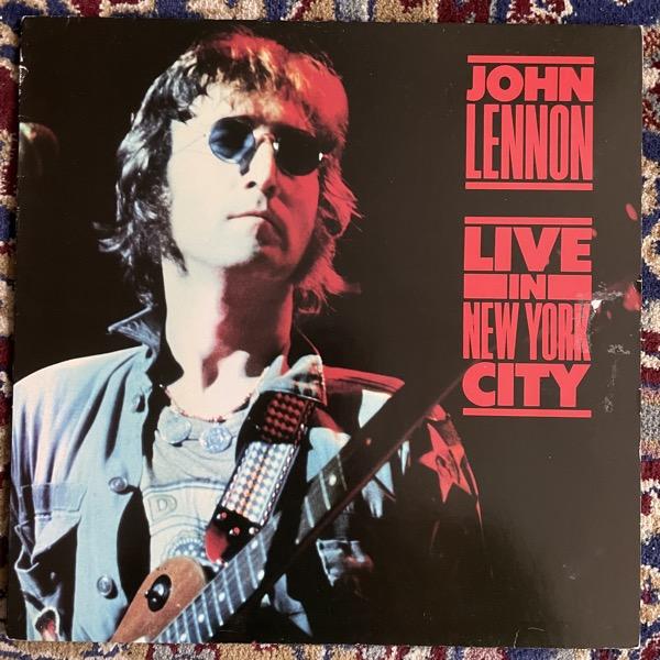 JOHN LENNON Live In New York City (Parlophone - Europe original) (VG/VG-) LP