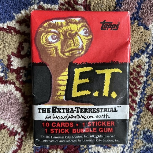 E.T. Topps Trading Cards