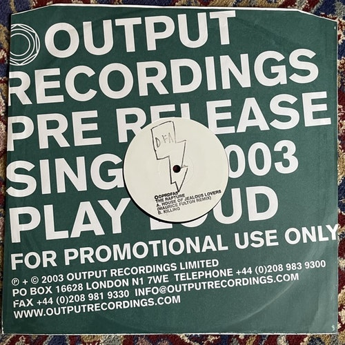 RAPTURE, the House Of Jealous Lovers (Advance promo) (Output - UK original) (VG+/EX) 12""