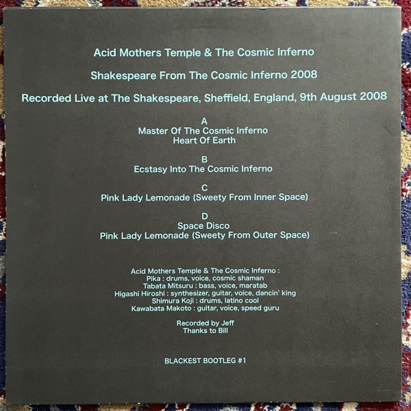 ACID MOTHERS TEMPLE & THE COSMIC INFERNO Shakespeare From The Cosmic Inferno 2008 (Blackest Bootlegs - UK original) (NM) 2LP