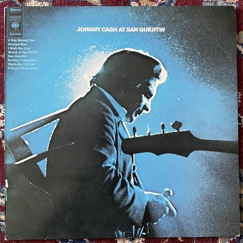 JOHNNY CASH Johnny Cash At San Quentin (CBS - Holland reissue) (VG+) LP