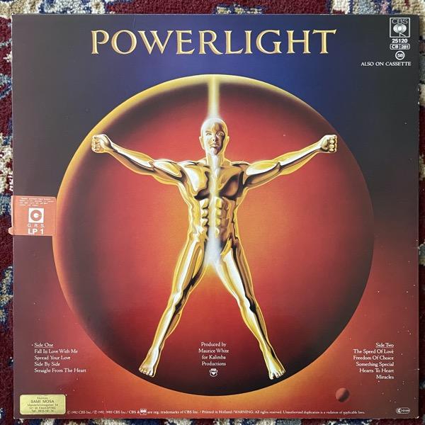 EARTH, WIND & FIRE Powerlight (CBS - Europe original) (VG+) LP