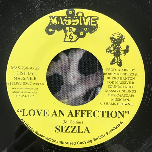 SIZZLA Love An Affection (Massive B - USA original) (VG+) 7""