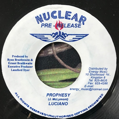 LUCIANO/DREADSON Prophesy/Zion (Nuclear - Jamaica original) (VG+) 7""