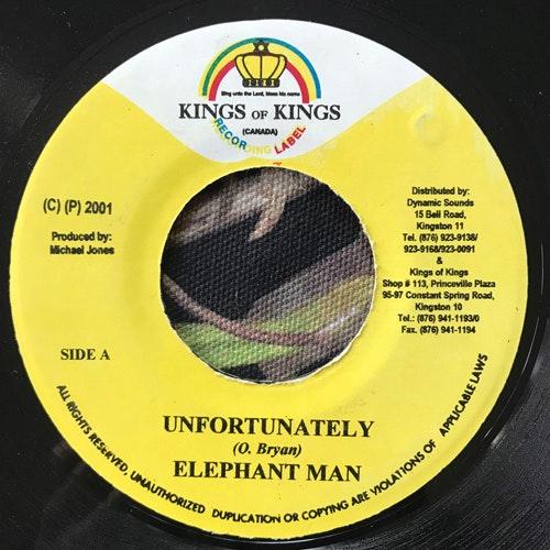 "ELEPHANT MAN Unfortunately (Kings Of Kings - Jamaica original) (VG+) 7"""