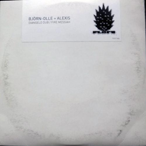 """BJÖRN-OLLE + ALEXIS Diangelo Dub/Fire Messiah (Flora & Fauna - Sweden original) (VG/EX) 7"""""""