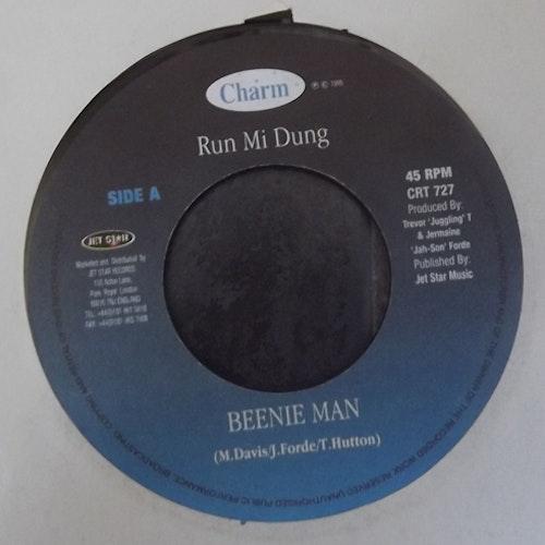 """BEENIE MAN Run Mi Dung (Charm - UK original) (EX) 7"""""""
