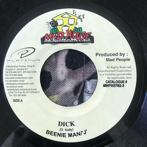 BEENIE MAN, 'J' Dick (Mad House - Jamaica original) (VG+) 7""