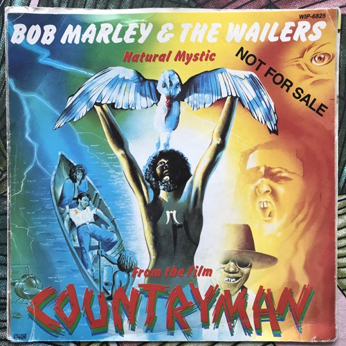 BOB MARLEY & THE WAILERS, WALLY BADAROU Natural Mystic/Theme From Countryman (Island - Sweden promo original) (VG/VG+) 7""