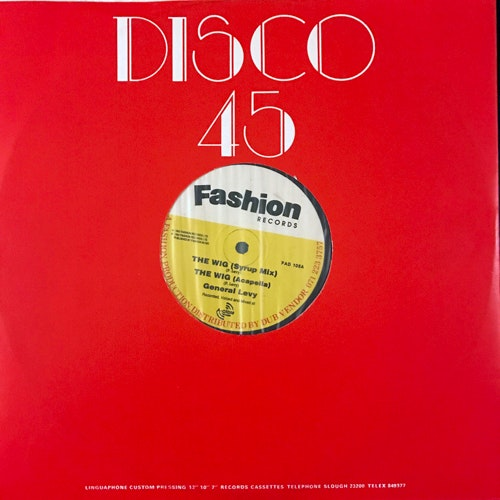 GENERAL LEVY The Wig (Fashion - UK original) (VG+) 12""