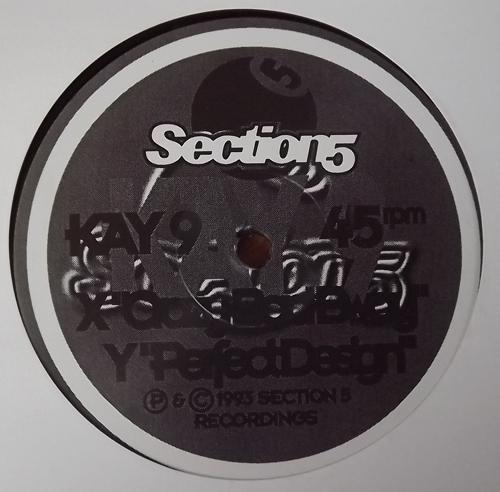 "KAY 9 Crazy Bad Bwoy/Perfect Design (Section 5 - UK original) (EX) 12"""