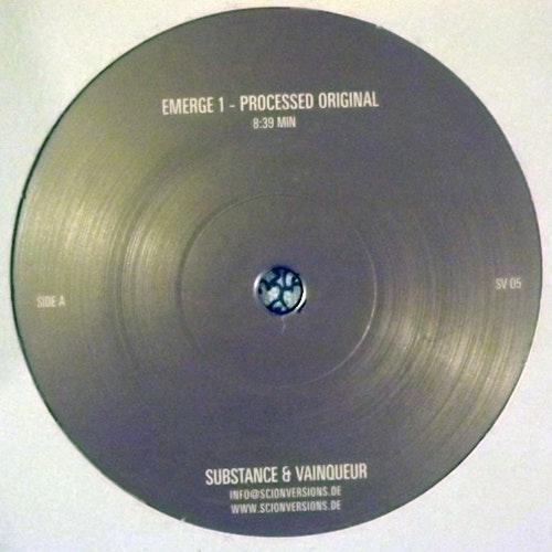 "SUBSTANCE & VAINQUEUR Emerge (Scion Versions - Germany original) (VG+) 12"""