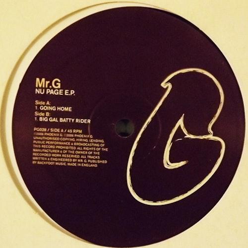 "MR. G Nu Page E.P. (Phoenix G. - UK original) (VG+) 12"""