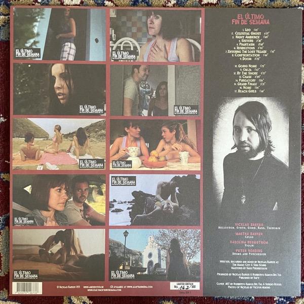 SOUNDTRACK Nicklas Barker – El Último Fin De Semana (Virtalevy - Sweden original) (NM/VG+) LP