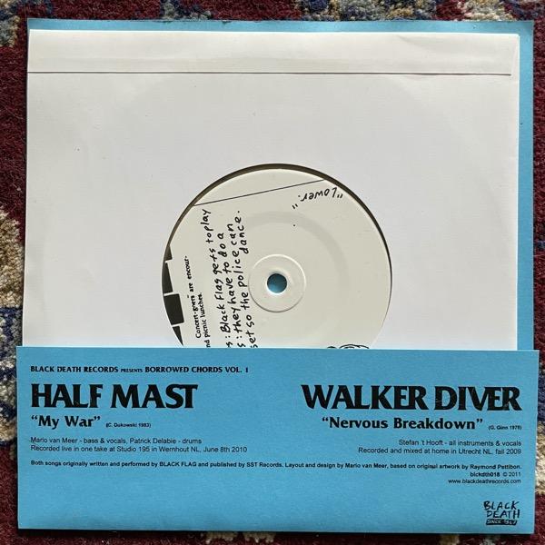 "HALF MAST / WALKER DIVER Black Death (Gold vinyl) (Black Death - Holland original) (EX/NM) 7"""