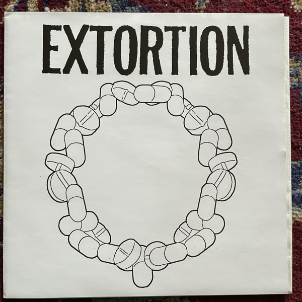 "EXTORTION / COMPLETED EXPOSITION Split (White vinyl) (Regurgitated Semen - Germany repress) (EX) 7"""