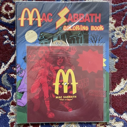 "MAC SABBATH Pair-A-Buns (Self released - USA original) (VG+/EX) FLEXI 7"" + BOOK"