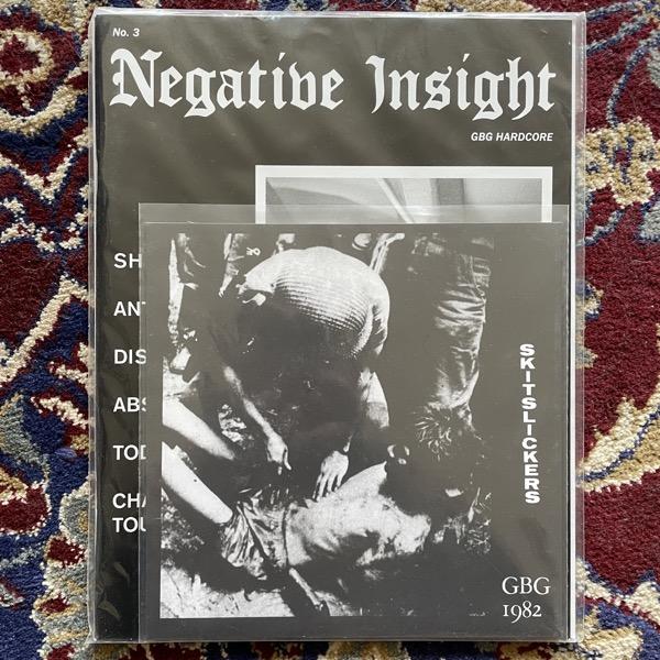 "SKITSLICKERS / NEGATIVE INSIGHT GBG 1982 (Negative Insight - USA reissue) (EX) 7"" + ZINE"