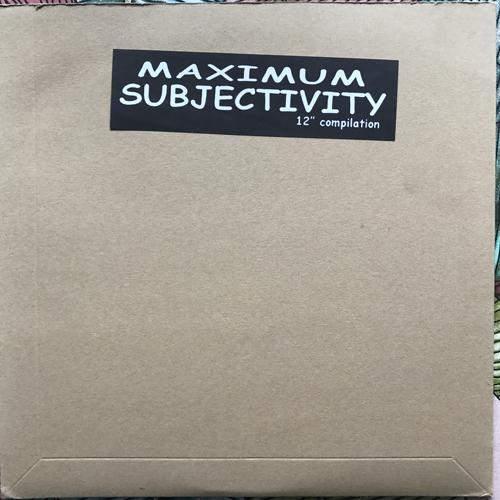 VARIOUS Maximum Subjectivity (Flowerviolence - Germany original) (VG+/EX) LP
