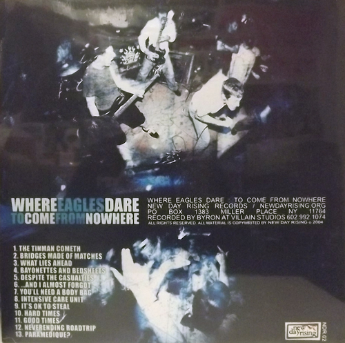 WHERE EAGLES DARE To Come From Nowhere (New Day Rising - USA original) (SS) LP