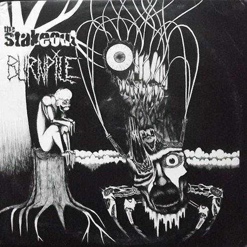 STAKEOUT, the/BURNPILE Split (Six Weeks - USA original) (VG/VG+) LP