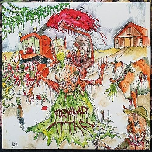FLESHHEAD ATTACK Brainparasite (Red vinyl) (Kopperation - Germany original) (NM/EX) LP