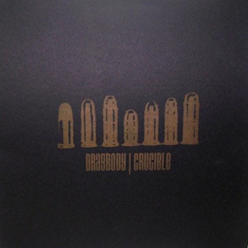DRAGBODY / CRUCIBLE Split (Brown vinyl) (No Idea - USA original) (EX) MLP