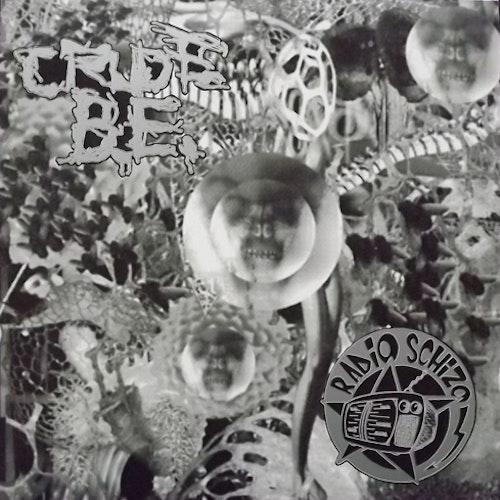 CRUDE B.E./RADIO SCHIZO Split (Merciless - Germany original) (EX/NM) LP