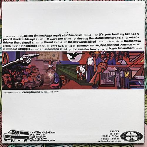 CONTRA Boys Club Anthem (Traffic Violation - USA original) (EX/NM) LP