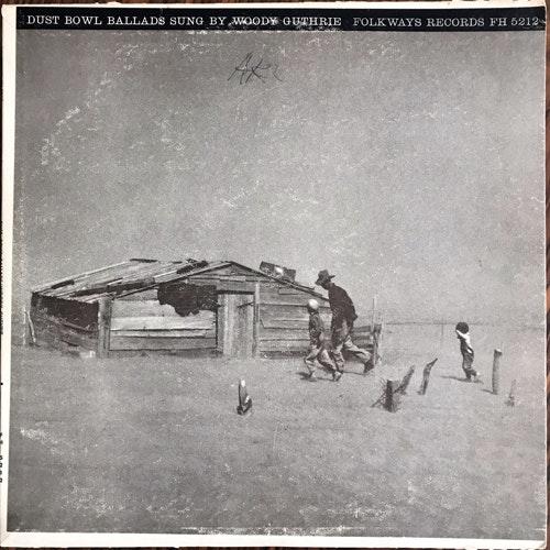 WOODY GUTHRIE Dust Bowl Ballads (Folkways - USA repress) (VG-/VG+) LP