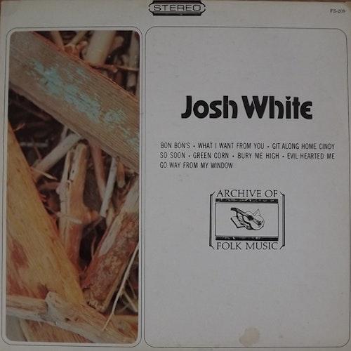 JOSH WHITE Josh White (Archive Of Folk & Jazz Music - USA original) (VG/G) LP