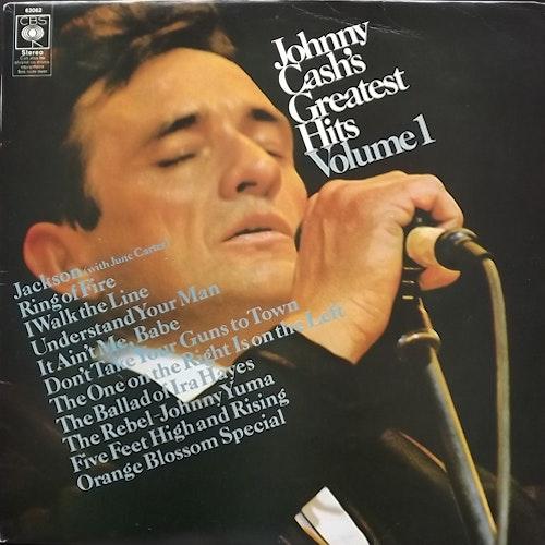 JOHNNY CASH Greatest Hits Volume 1 (CBS - UK early reissue) (VG+/G) LP