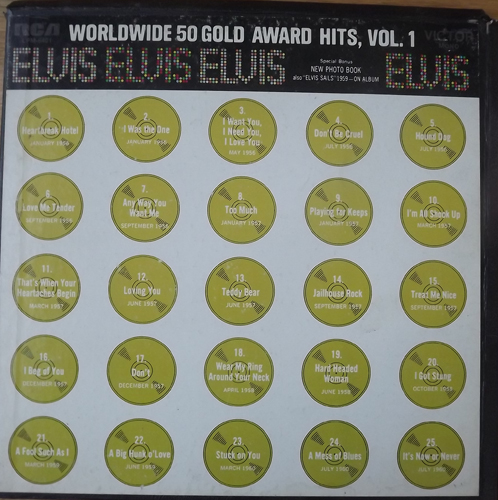 ELVIS PRESLEY Worldwide 50 Gold Award Hits, Vol. 1 (NOTE: Only records 1 and 2) (RCA - USA original) (VG-/VG+) 2xLP BOX