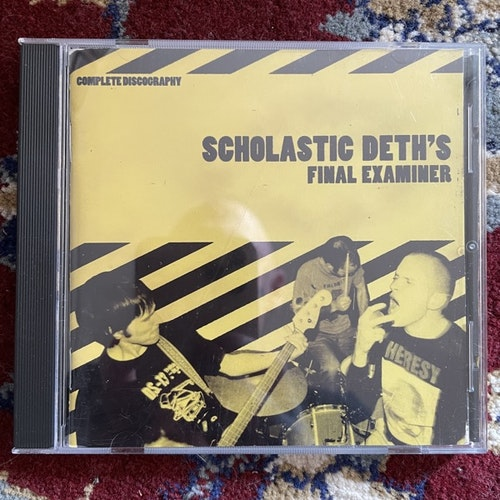 SCHOLASTIC DETH Final Examiner (625 Thrashcore - USA original) (VG+) CD