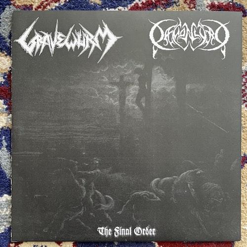 "GRAVEWÜRM / DAEMONLORD The Final Order (White vinyl) (Necromancer - Germany original) (EX/NM) 7"""