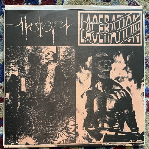 "AVULSION / LACERATION Split (Clean Plate - USA original) (EX) 7"""