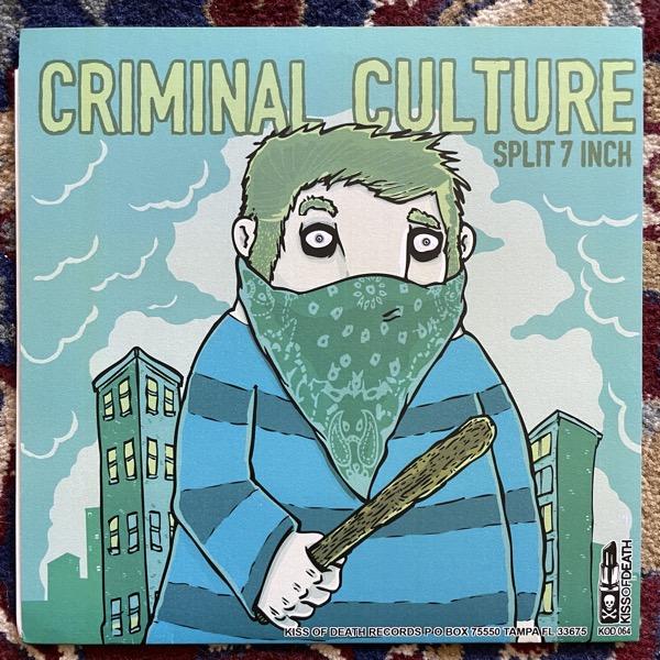 "WAX PHANTOM / CRIMINAL CULTURE Split (Purple vinyl) (EX) 7"""