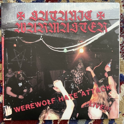 """SATANIC WARMASTER Werewolf Hate Attack Live!!! (Guttural - Mexico original) (EX/VG+) 7"""""""