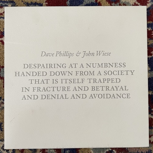 """DAVE PHILLIPS & JOHN WIESE At A Loss For Words (White vinyl) (Blossoming Noise - USA original) (EX) 7"""""""