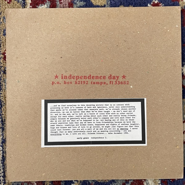"""EARLY GRACE Early Grace (Independence Day - USA original) (EX) 7"""""""