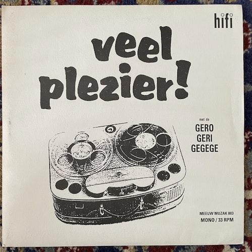 "GEROGERIGEGEGE, the Veel Plezier! (Red vinyl) (Meeuw Muzak - Holland original) (VG+/EX) 7"""