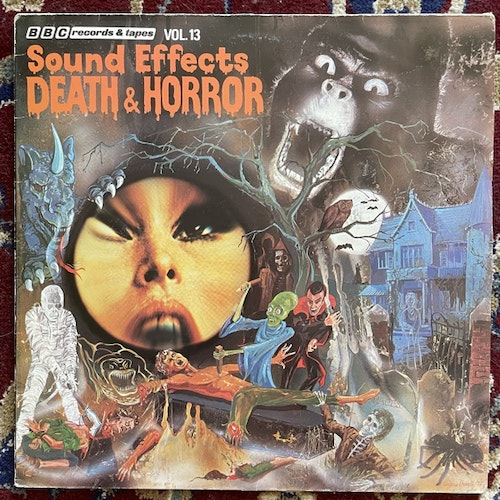 MIKE HARDING Sound Effects No.13 - Death And Horror (BBC - UK repress) (VG) LP