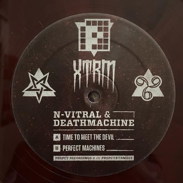 "N-VITRAL & DEATHMACHINE Time To Meet The Devil (Red vinyl) (PRSPCT XTRM - Holland original) (VG+) 12"""