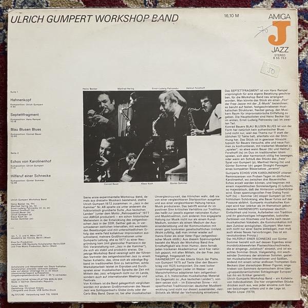 ULRICH GUMPERT WORKSHOP BAND Ulrich Gumpert Workshop Band (AMIGA - Germany original) (VG/VG+) LP