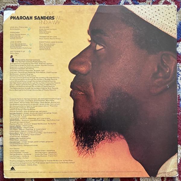 PHAROAH SANDERS Love Will Find A Way (Arista - USA original) (VG/VG+) LP