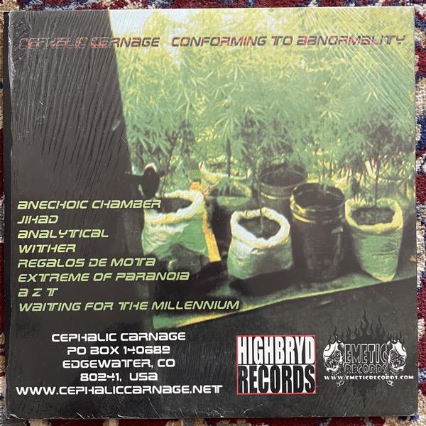 CEPHALIC CARNAGE Conforming To Abnormality (Emetic - USA original) (EX) LP