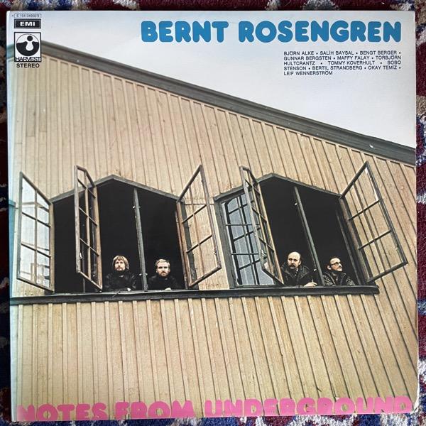 BERNT ROSENGREN Notes From Underground (Harvest - Sweden original) (EX) 2LP