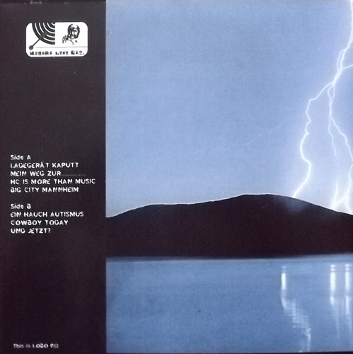 """MY OWN LIES Sounds Like An Accident (Blue vinyl) (Hombre Lobo - Germany original) (NM) 7"""""""